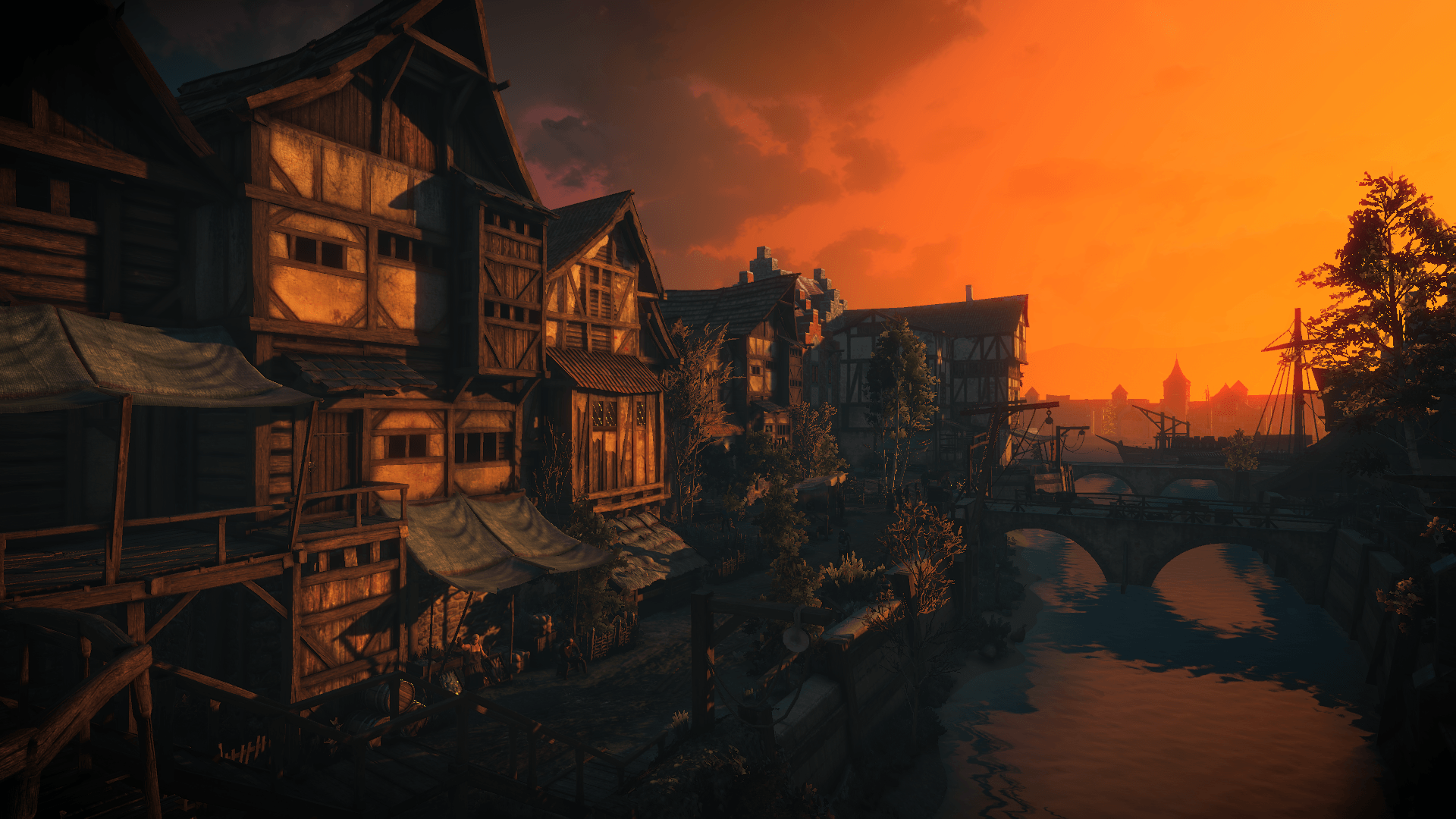 witcher 3 novigrad sunset
