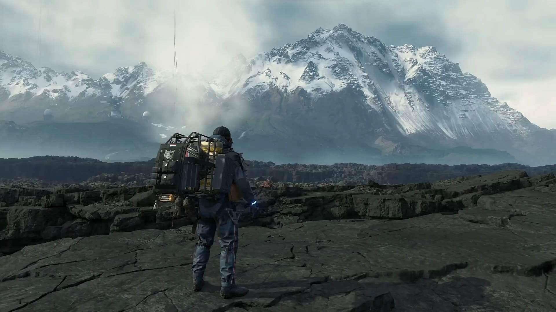 death stranding mountains