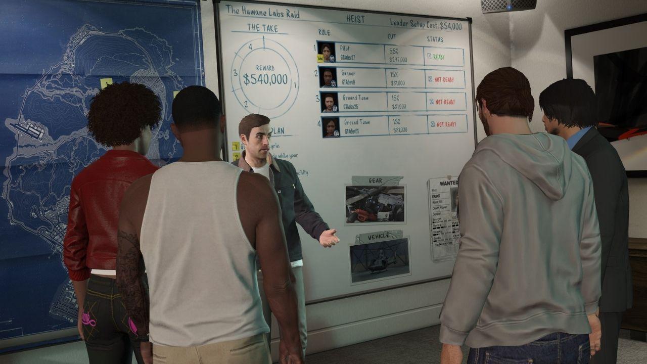 Plánovacia miestnosť v GTA, kde rozdeľuješ peniaze